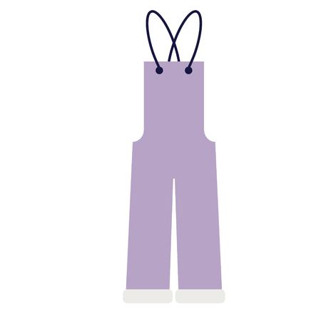 Jumpsuit flat illustration on white. Fashion, lifestyle and everyday objects series.
