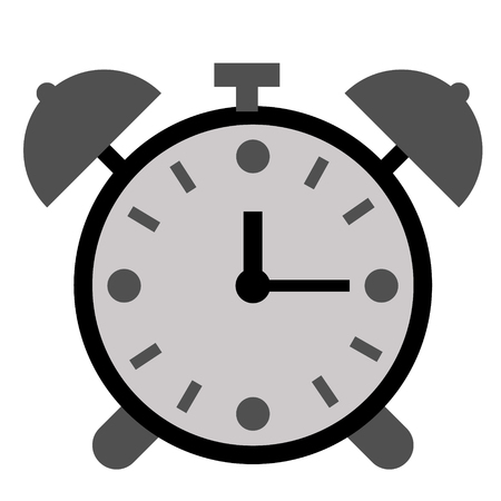 Alarm clock flat illustration on white. Lifestyle and everyday objects series.