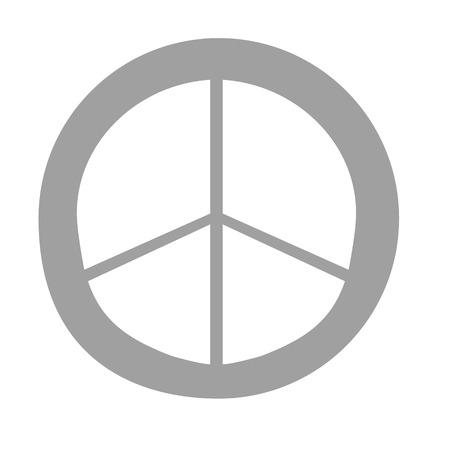Peace sign flat illustration on white