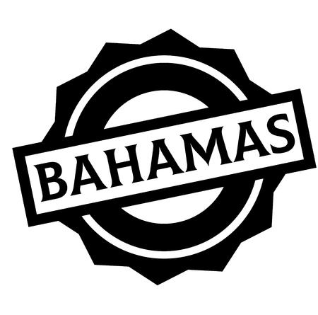 BAHAMAS stamp on white