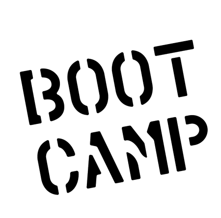 BOOT CAMP stamp on white background. Labels and stamps series.