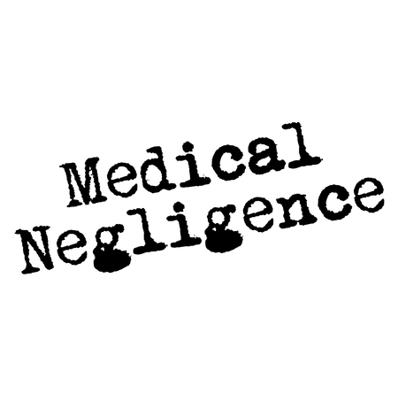 MEDICAL NEGLIGENCE stamp on white