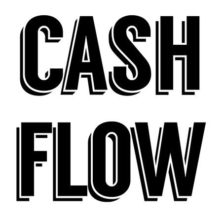 CASH FLOW stamp on white background. Labels and stamps series. 일러스트