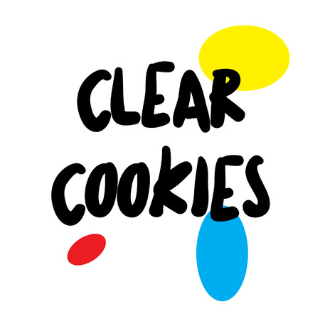 CLEAR COOKIES stamp on white background. Labels and stamps series.  イラスト・ベクター素材