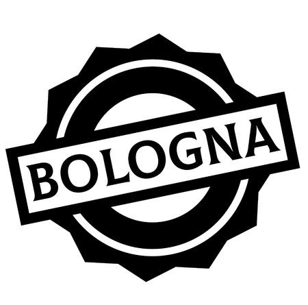 BOLOGNA stamp on white