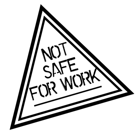 NOT SAFE FOR WORK stamp on white