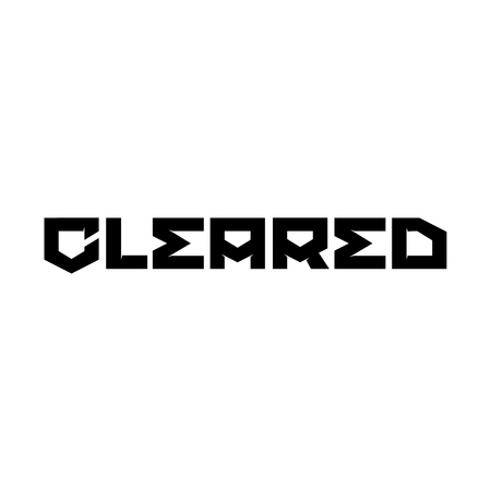 CLEARED stamp on white