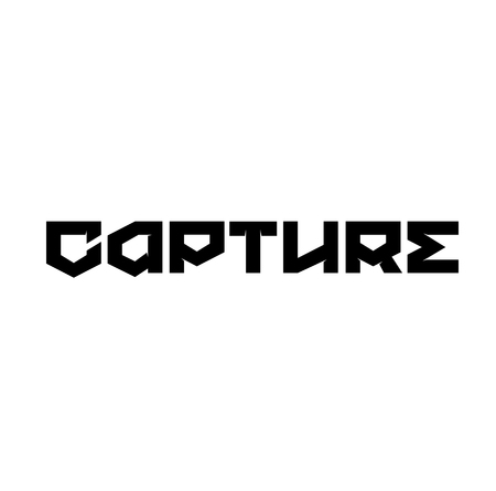CAPTURE stamp on white
