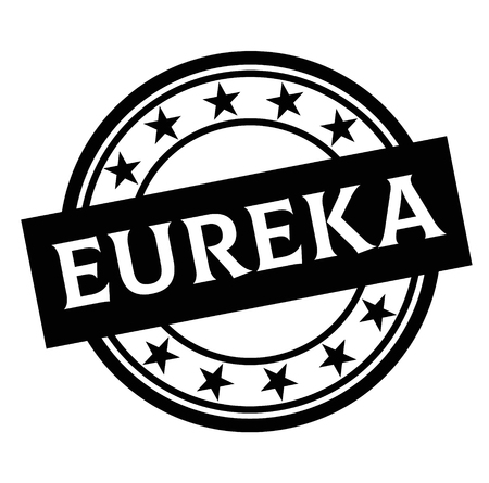 EUREKA stamp on white
