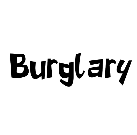 BURGLARY stamp on white background. Labels and stamps series. Çizim