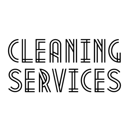 CLEANING SERVICES stamp on white background. Labels and stamps series.