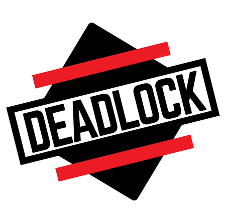 DEADLOCK stamp on white background. Labels and stamps series.