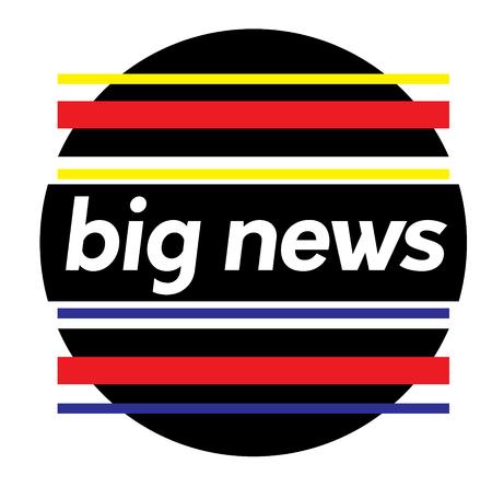 BIG NEWS stamp on white Illustration