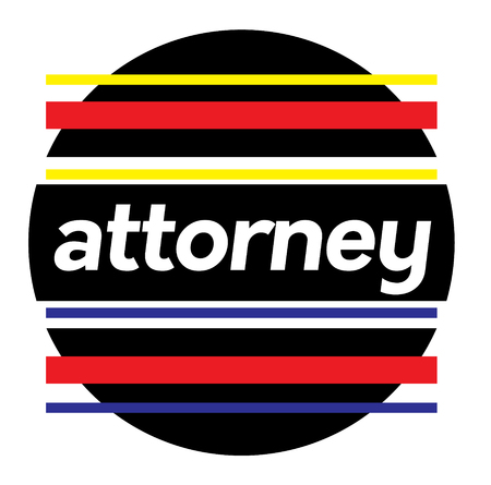 ATTORNEY stamp on white background. Labels and stamps series.