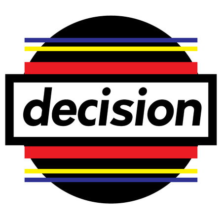 DECISION stamp on white 矢量图像