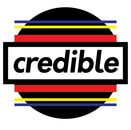 CREDIBLE stamp on white 向量圖像