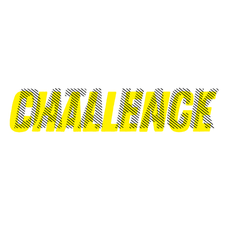 DATA HACK stamp on white background. Labels and stamps series.