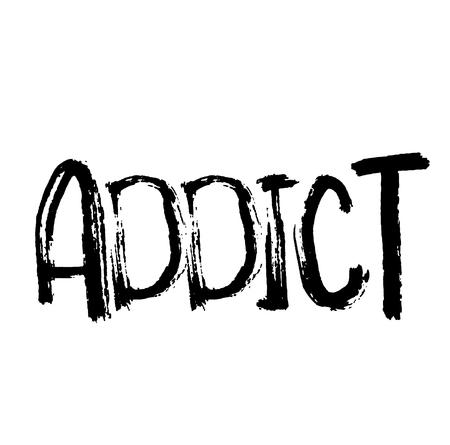 Timbre addict sur blanc