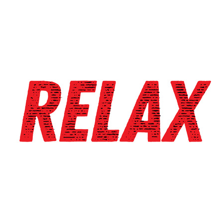 RELAX stamp on white background. Labels and stamps series. Illustration