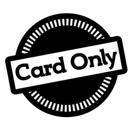 CARD ONLY stamp on white Vettoriali