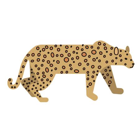 leopard flat illustration on white Standard-Bild - 120031139