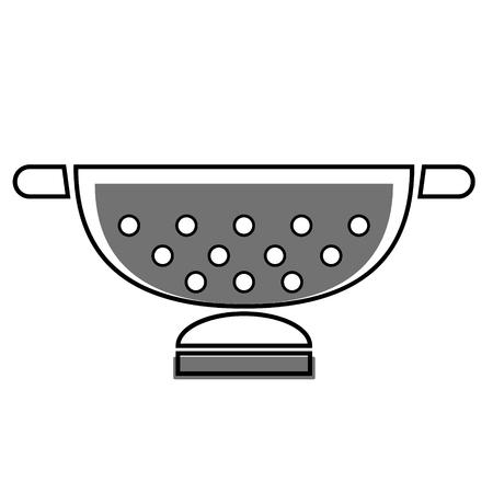 gray sieve flat illustration on white