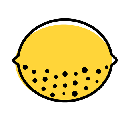 lemon flat illustration on white