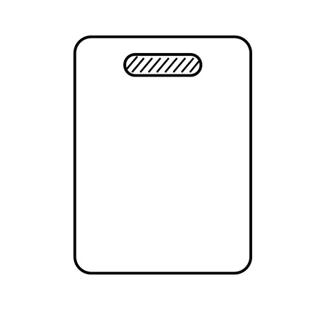 cutting board flat illustration on white
