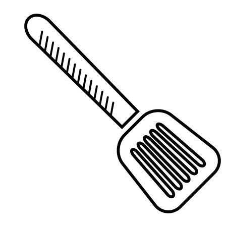 spatula flat illustration on white
