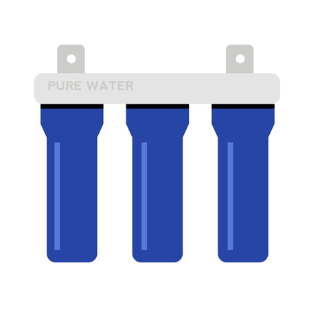 water filter flat illustration on white