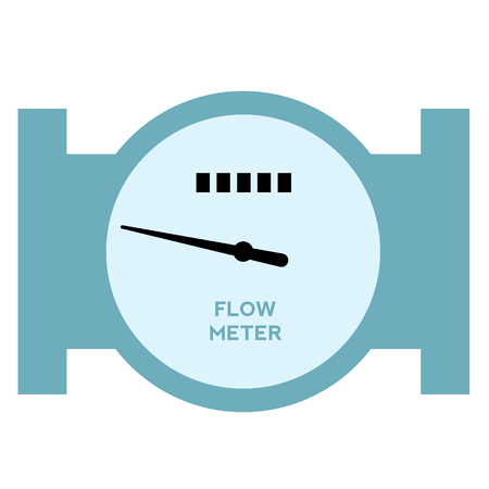 flow meter flat illustration on white. Everyday objects and city life series.