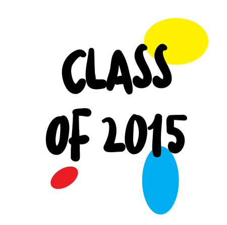 CLASS OF 2015 stamp on white Illustration