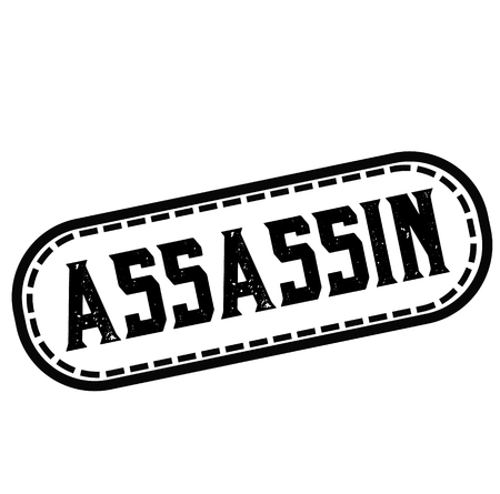 ASSASSIN stamp on white 版權商用圖片 - 120243079