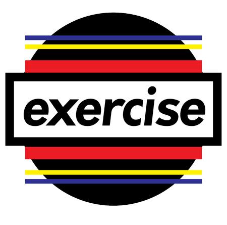 EXERCISE stamp on white 向量圖像