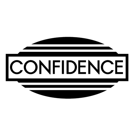 CONFIDENCE stamp on white Illustration