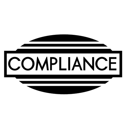 COMPLIANCE stamp on white background. Labels and stamps series. Illustration