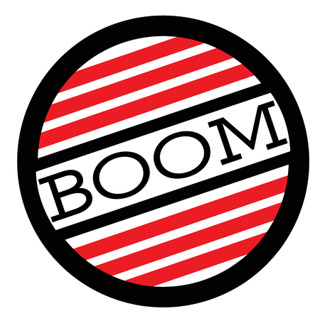 BOOM stamp on white background. Labels and stamps series.  イラスト・ベクター素材