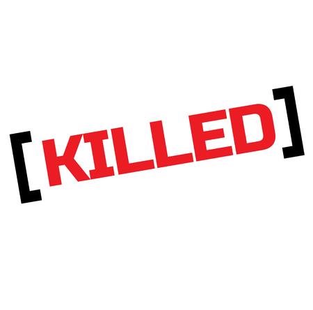 KILLED stamp on white