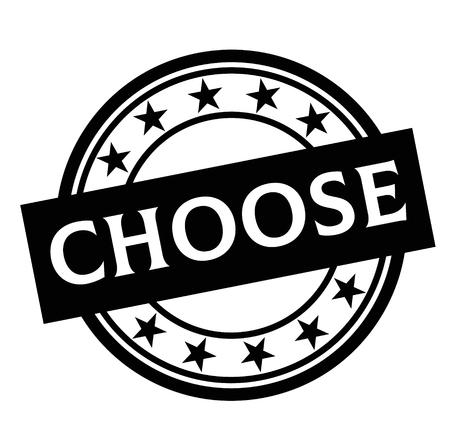CHOOSE stamp on white