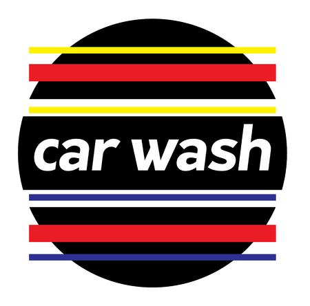 CAR WASH stamp on white