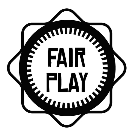 FAIR PLAY stamp on white background. Signs and symbols series.
