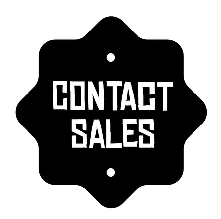 CONTACT SALES stamp on white Illustration