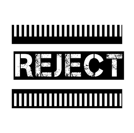REJECT stamp on white background. Signs and symbols series. 向量圖像