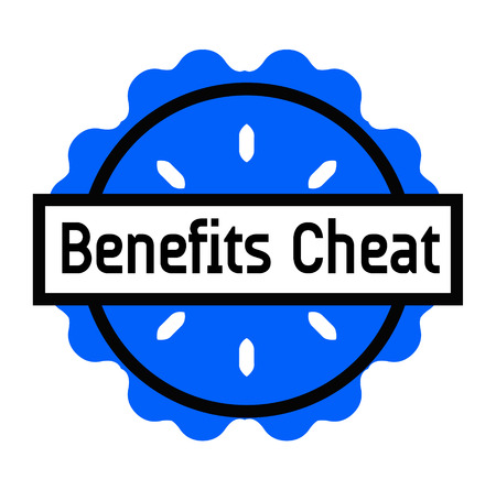 BENEFITS CHEAT stamp on white background. Signs and symbols series. Illustration