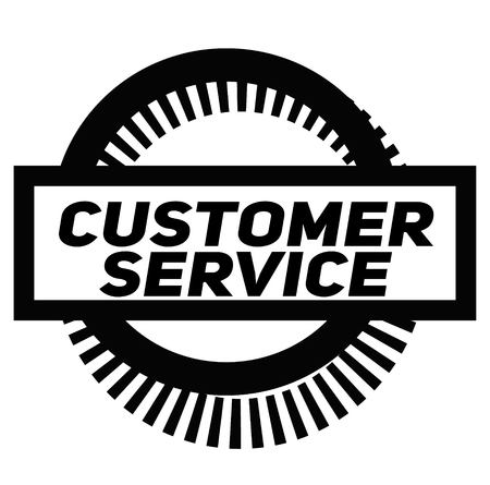 CUSTOMER SERVICE stamp on white background. Signs and symbols series. Çizim