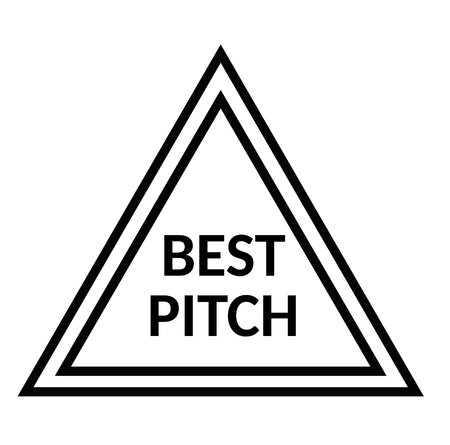BEST PITCH stamp on white
