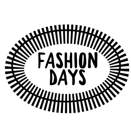 FASHION DAYS stamp on white background. Signs and symbols series.