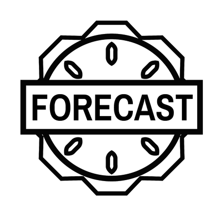 FORECAST stamp on white background. Signs and symbols series.
