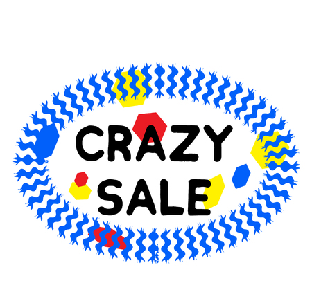 CRAZY SALE stamp on white background. Signs and symbols series.