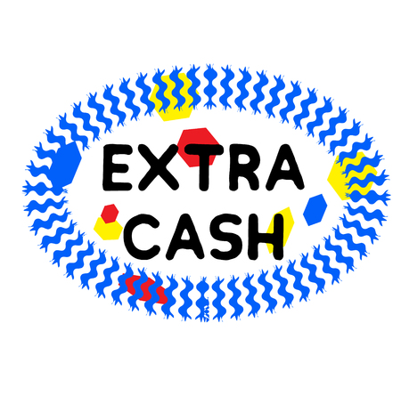 EXTRA CASH stamp on white background. Signs and symbols series.